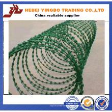 Longo duramento Rural PVC Revestido Razor Cerca de malha de arame farpado