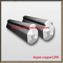 Exposed steel aluminum composite trolley wire