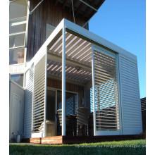 Puertas de persiana fijas de aluminio de alta calidad