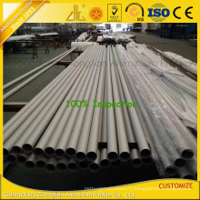 Tube rond d'extrusion en aluminium de soufflage de sable d'OIN 9001 anodisé