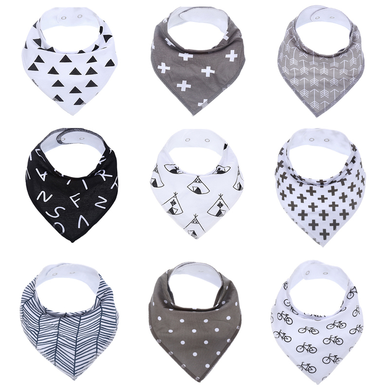 Amazon Hot Sale Printing Bandana Baby Bib
