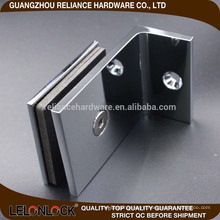 90 degree rectangle glass clamp glass to wall most advance technology and authority certification hot type selling in alibaba