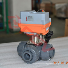 intelligent switching fine small 3 way ball valve pvc ac 230v