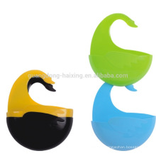 Оптовые продажи красочный гобелен пластиковые Подвесные корзины с крючком