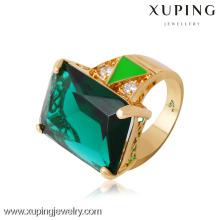 13719 anéis banhados a ouro Xuping com pedra grande