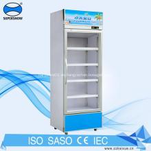 Refrigerador económico de la puerta de cristal de la exhibición del refrigerador de bebidas