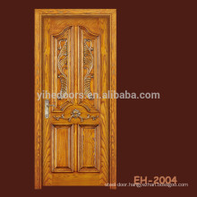 Craft carved composite door veneered door with 4 panel and a big bolection