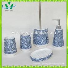 Acessório de banheiro de efeito Cobblestone, conjunto de acessórios de banho de cerâmica
