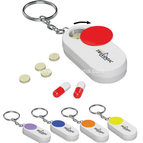 Promotional Rotary Pill Box Key Chain