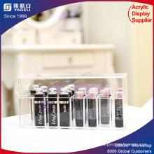 Lápiz labial acrílico caja para la presentación cosmética