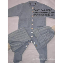 Conjunto de bebê de caxemira (DS308)