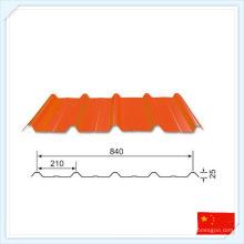 Placa de acero prefabricada de alta calidad estándar GB para techo