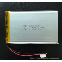 Wiederaufladbare Batterie 3.7V 3600mAh Li-Polymer Akku 506890
