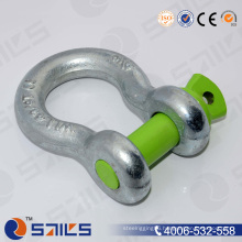 Red Pin Galvanized Drop Forged Us Bow Shackle
