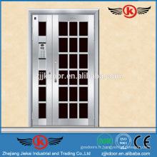 JK-SS9023 sécurité d'acier porte principale porte de porte en métal inox