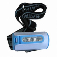 3-piece LED Head Lamp, Uses 3 x AAA Batteries