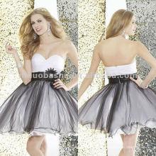 NY-2115 Una diversión y un vestido de noche corto coqueto de la bola