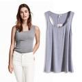 Ventas al por mayor de alta moda mujeres algodón poliéster camisetas chaleco para el verano