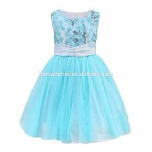 Atacado crianças princesa puffy mangas dress 1-6 anos de idade baby girl dress para festa