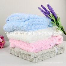 Double-Thick Loop Pile Rosa Velvet Cobertores Blanket Criança