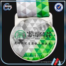 OEM impressão medalha personalizada com fita