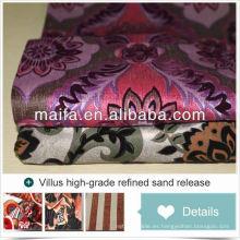 2015 el más nuevo diseño para la tela de la tapicería del coche del terciopelo