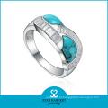Bezzel ajuste ajustável prata esterlina anéis