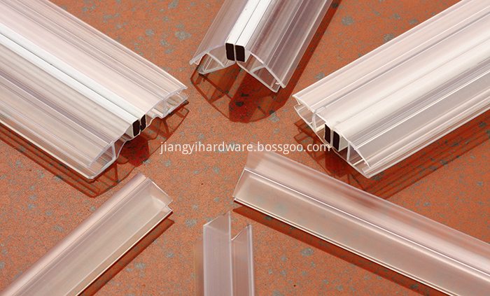90 degreeRubber PVC material curved shower screen seal