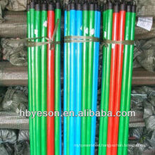 pvc cover wood broom stick 2.2*120cm