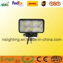 Luz de trabajo LED de 18 W, luz de conducción LED para campo a través, para tractor, carretilla elevadora, 4 * 4 todoterreno, ATV, excavadora, equipo de servicio pesado, etc.
