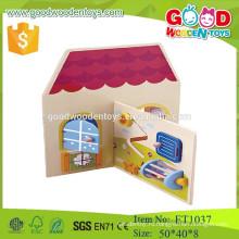 Прекрасные розовые оптовые куклы дома деревянные игрушки для детей