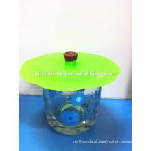 Preço de fábrica alta qualidade Silicone Cup Lid set