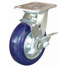 Swivel Endurance Nylon Caster with Side Brake (Blue)