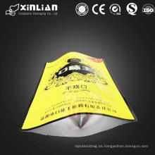 El precio competative el papel de embalaje de papel de calidad kraft agradable se levanta la bolsa con el fondo del papel de aluminio