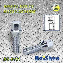M12X1.5X54mm Hex 17mm Longueur de filetage 26mm Boulon de roue