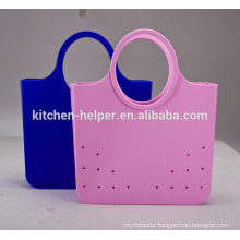 China Professional Manufacturer BPA Free 100% Food Grade Fashionable Durable Cheap Portable Silicone Ladies Bags