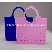 Китай Профессиональный производитель BPA Бесплатная 100% продовольственная марка Модные прочные дешевые портативные силиконовые дамские сумочки