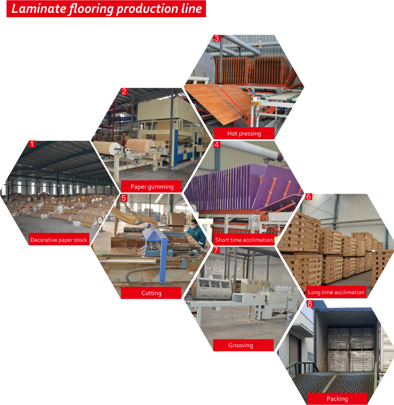 8mm E.I.R. Wood Laminated Flooring