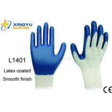 10g T / C Shell Latex beschichteter Sicherheits-Arbeitshandschuh (L1401)
