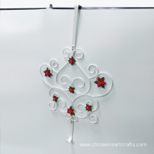 Metal Heart Design Over Door Hook Hanger