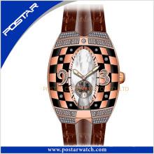 Psd-2325 a faixa de relógio de couro relógio automático cor caso unisex relógio de pulso de moda