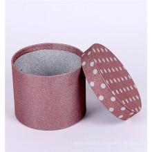 На заказ круглая коробка подарка картона цилиндра упаковывая
