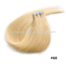 Cabelo liso virgem indiano, extensões do cabelo da fita, alibaba expresso