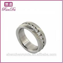 China fábrica anel de aço inoxidável 316 para as mulheres