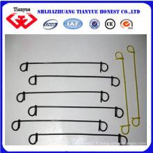 1 mm 4 pouces Galvanisé noir recuit double boucle Tie Wire