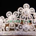 Corona de diamantes nupciales de la tiara del diseño hermoso de la flor