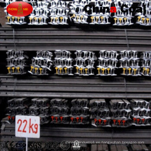Riel de acero GB22kg con placas de pescado / perno / tuercas