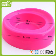 Plastic Fashion Single Pet Bowl (HN-PB865)