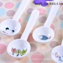 SP1523 Haonai Cuchara de cerámica de uso lindo para niños