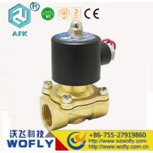 Cero presión 2 / 2way normalmente cerca 12v solenoide válvula de aire 2w160-15